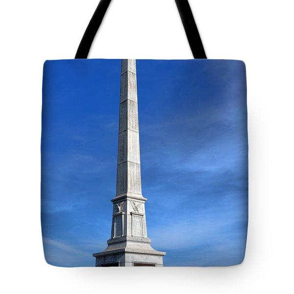 Gettysburg National Park United States Army Regulars Memorial Tote Bag