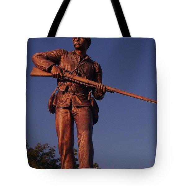 Gettysburg Statue Tote Bag by Eric  Schiabor