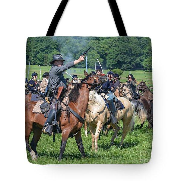 Gettysburg  Union Cavalry 7920c  Tote Bag