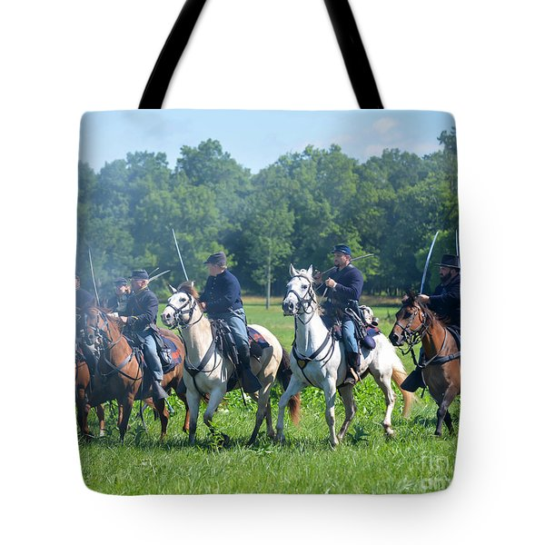Gettysburg  Union Cavalry Tote Bag