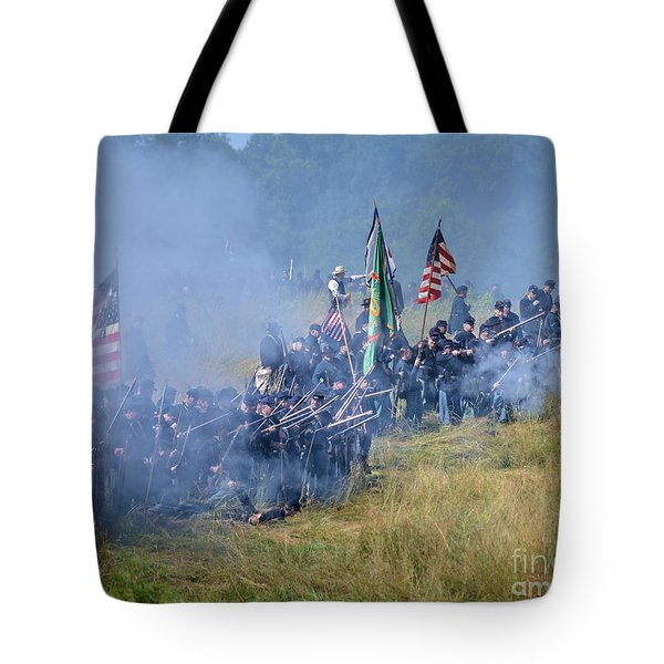 Gettysburg Union Infantry 8947c Tote Bag