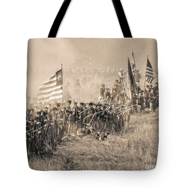 Gettysburg Union Infantry 8948s Tote Bag