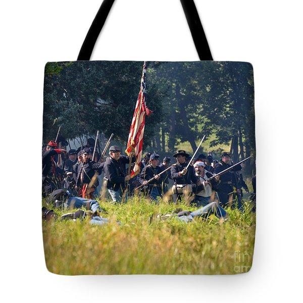 Gettysburg Union Infantry 9348c Tote Bag