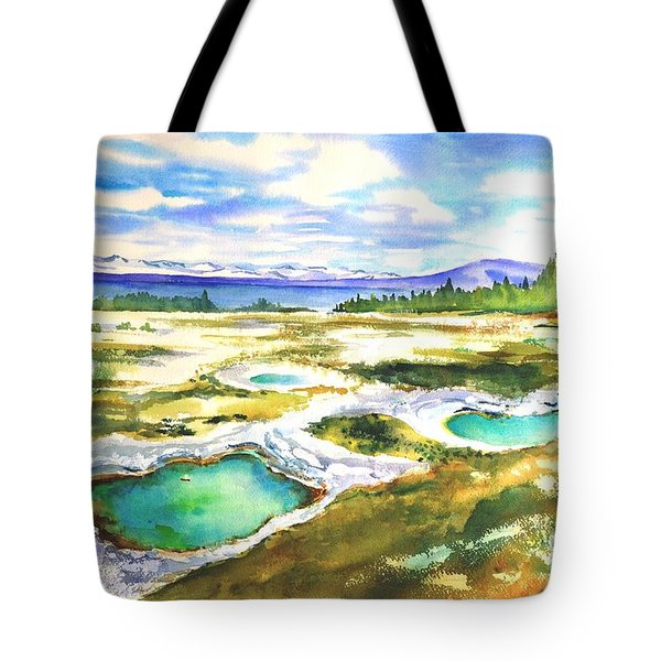 Geyser Basin, Yellowstone Tote Bag