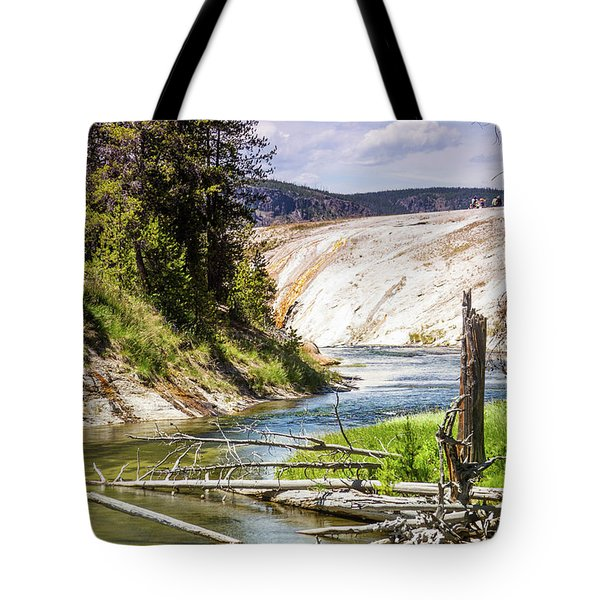 Tote Bag featuring the photograph Geyser Stream by Dawn Romine