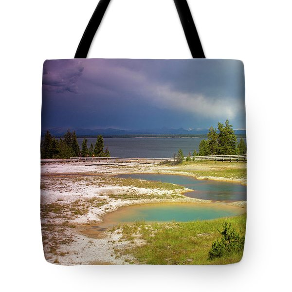 Tote Bag featuring the photograph Geysers Pools by Dawn Romine