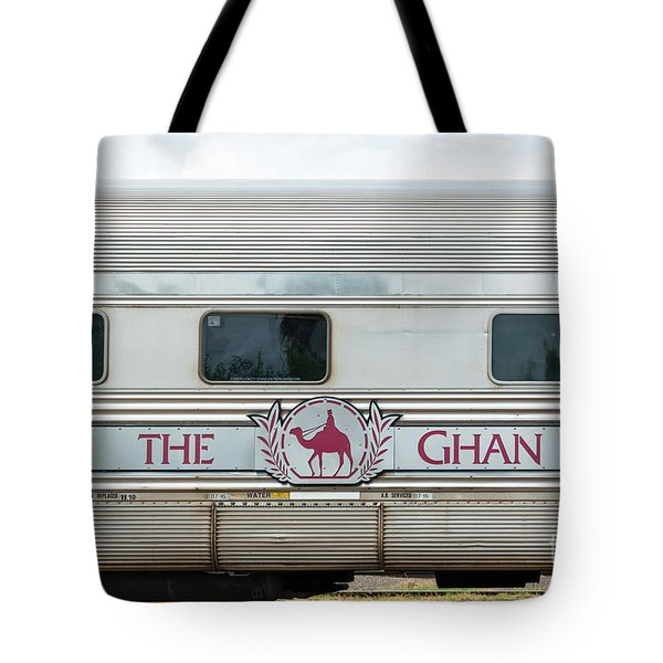 Ghan Train At Alice Springs Tote Bag