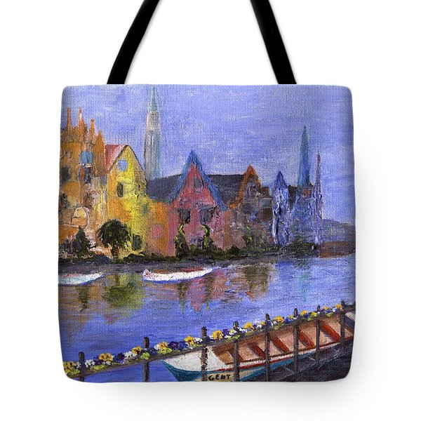 Tote Bag featuring the painting Ghent by Jamie Frier