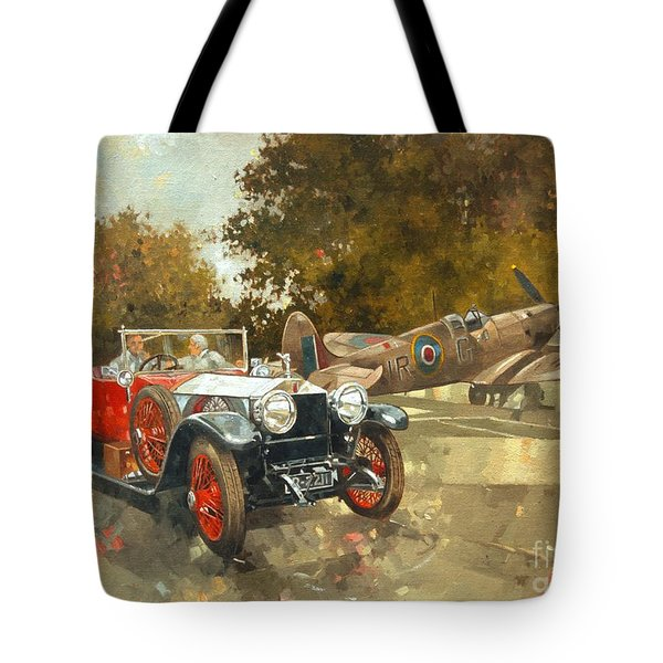 Ghost And Spitfire  Tote Bag by Peter Miller