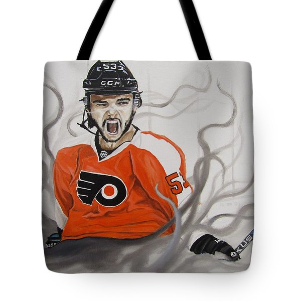 Tote Bag featuring the painting Ghost Bear by Kevin F Heuman