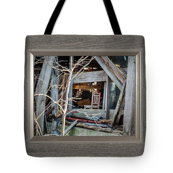 Tote Bag featuring the photograph Ghost Chair by David Coblitz