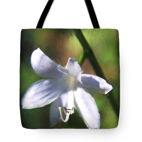 Ghost Flower Tote Bag