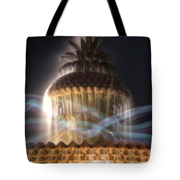 Tote Bag featuring the photograph Ghost Fountain by Michael Colgate