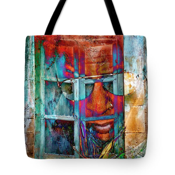 Tote Bag featuring the digital art Ghost Goes Through Wall by Silva Wischeropp