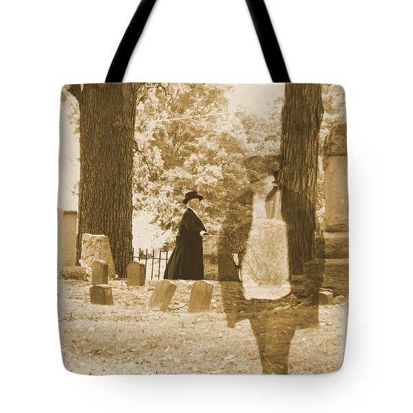 Ghost In The Graveyard Tote Bag