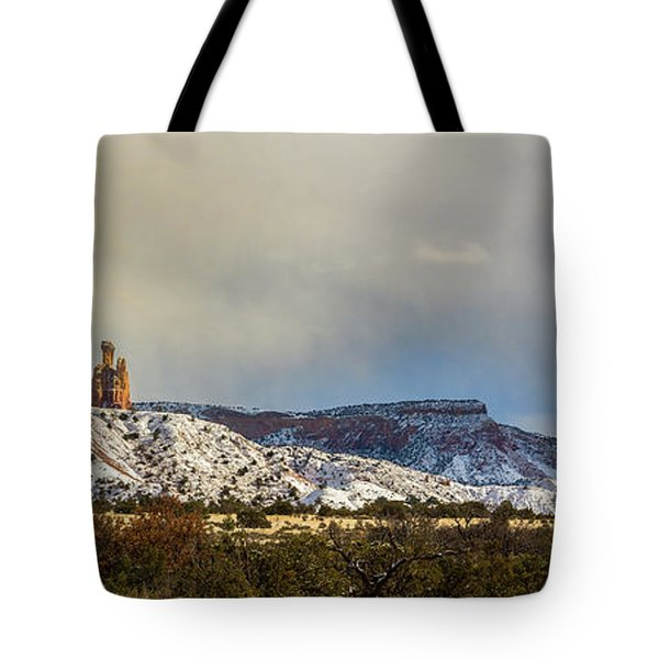 Ghost Ranch In Winter Tote Bag