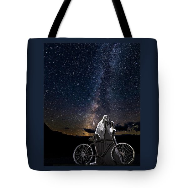 Tote Bag featuring the photograph Ghost Rider Under The Milky Way. by James Sage