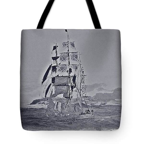 Ghost Ship Tote Bag by Blair Stuart