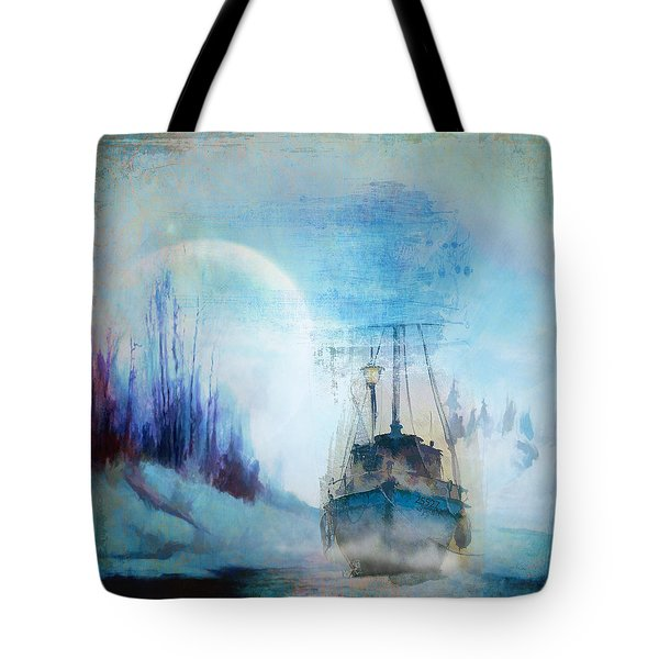 Ghost Ship Tote Bag by Diana Boyd