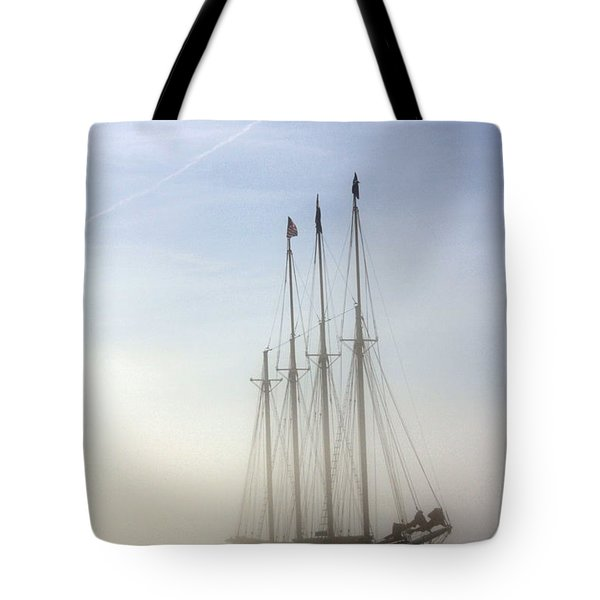 Tote Bag featuring the photograph Ghost Ship by Greg DeBeck