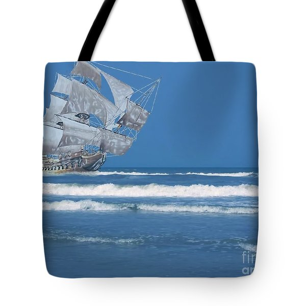 Ghost Ship On The Treasure Coast Tote Bag