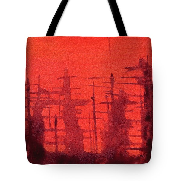 Ghost Ships Tote Bag