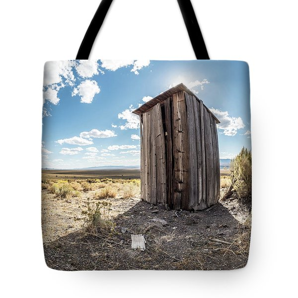 Ghost Town Outhouse Tote Bag