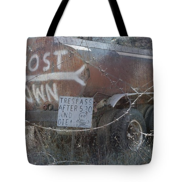 Ghost Town Tanker Tote Bag by Bill Dutting
