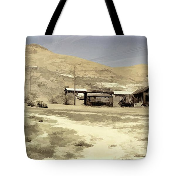 Ghost Town Textured Tote Bag