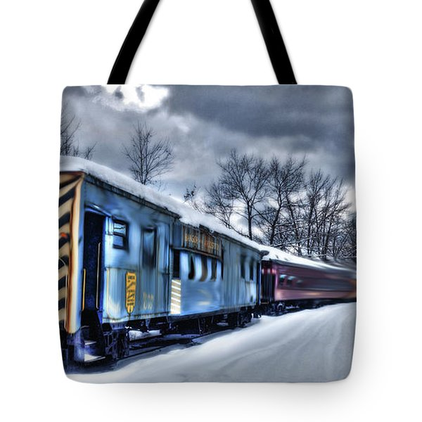 Ghost Train In An Existential Storm Tote Bag