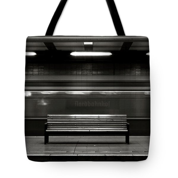 Tote Bag featuring the photograph East Berlin Ghost Train by Silva Wischeropp