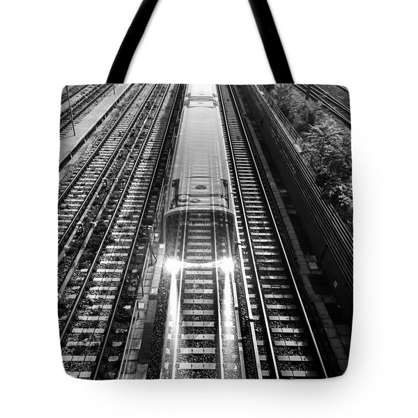 Tote Bag featuring the photograph Ghost Train Vienna by Chris Feichtner