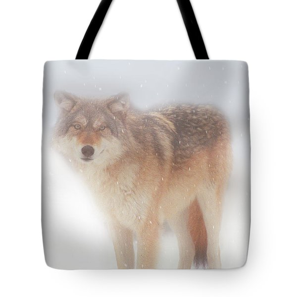 Ghost Wolf Tote Bag by Greg Slocum