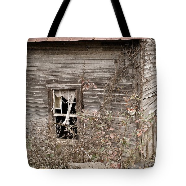 Ghostly Abndoned House Tote Bag