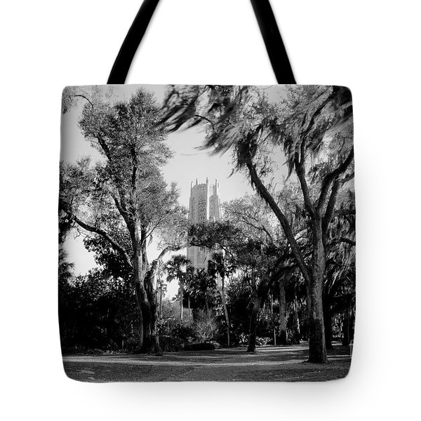 Ghostly Bok Tower Tote Bag by David Lee Thompson