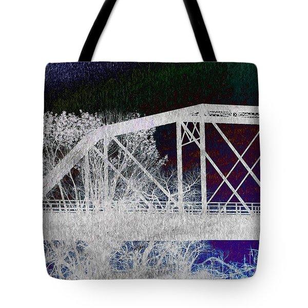 Ghostly Bridge Tote Bag