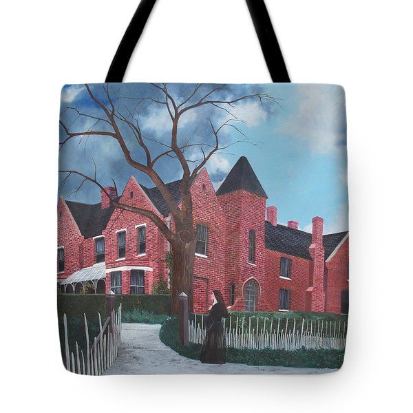 Ghostly Nun Of Borley Rectory Tote Bag