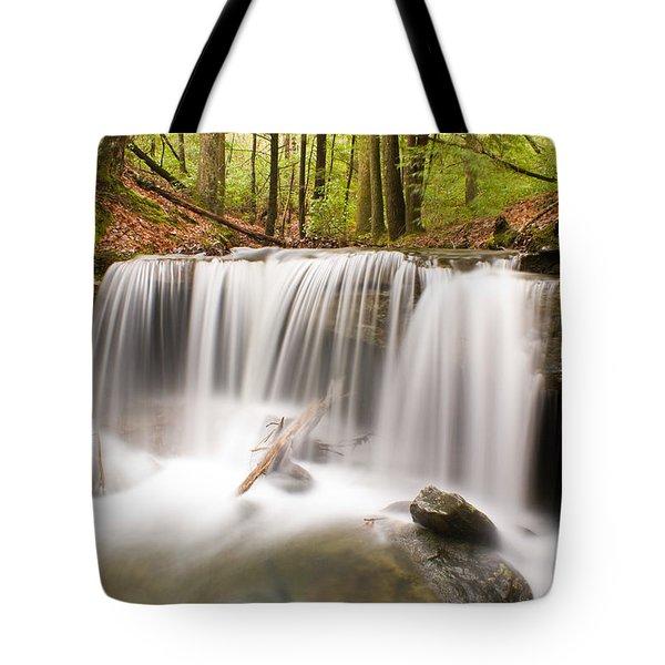 Ghostly Waterfall Tote Bag by Douglas Barnett
