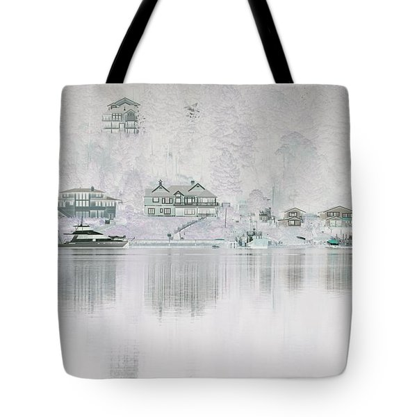 Ghostly Waterfront Tote Bag