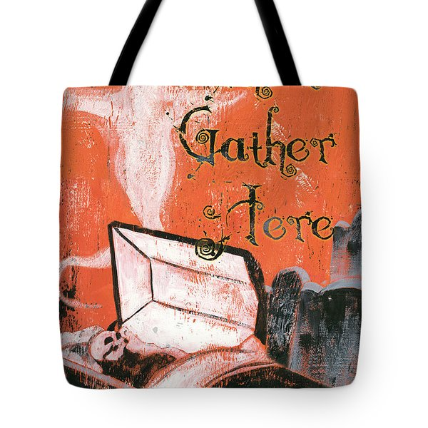Ghosts Gather Here Tote Bag