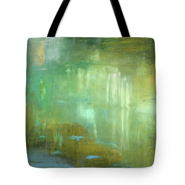 Tote Bag featuring the painting Ghosts In The Water by Michal Mitak Mahgerefteh