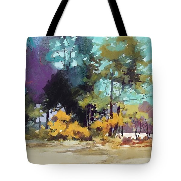 591528718cb4 Tote Bag featuring the painting Ghouls In The Woods by Craig Nelson