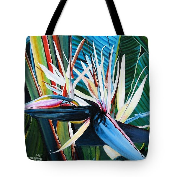 Giant Bird Of Paradise Tote Bag by Marionette Taboniar