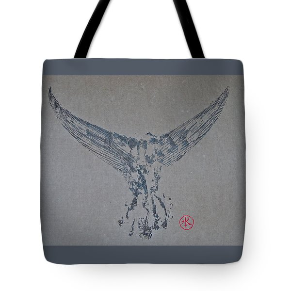Giant Bluefin Tuna Tail On Rice Paper Tote Bag