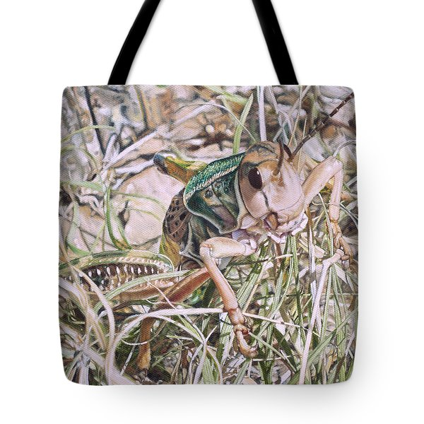 Giant Grasshopper Tote Bag