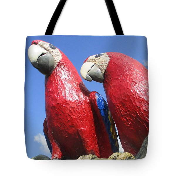 Giant Macaws Tote Bag by Randall Weidner