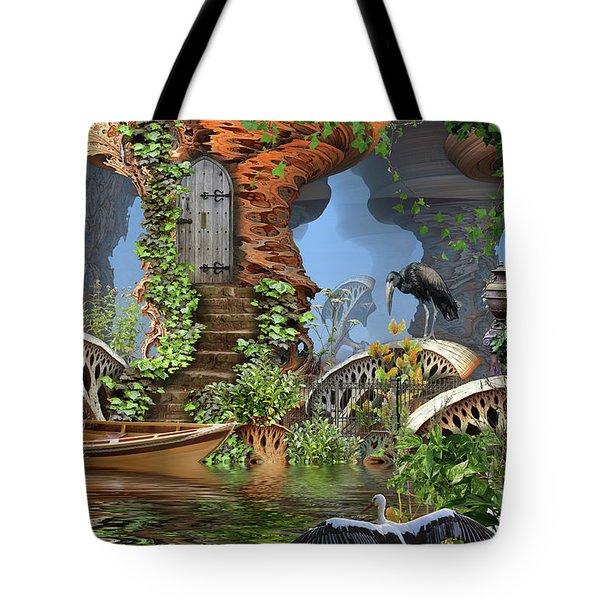 Giant Mushroom Forest Tote Bag