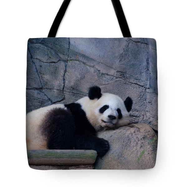 Giant Panda Tote Bag by Donna Brown