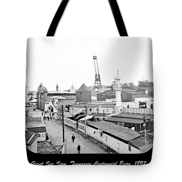 Tote Bag featuring the photograph Giant See Saw Tennessee Centennial Exposition 1897 by A Gurmankin