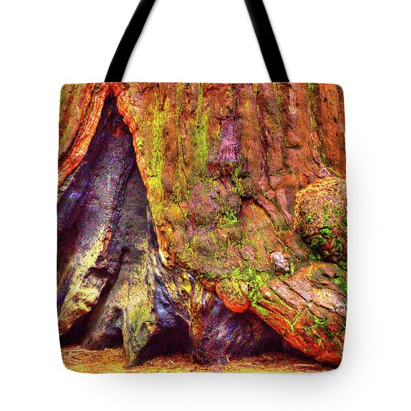 Giant Sequoia Base With Fire Scar Tote Bag